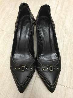 Joy & Peace 黑色 尖頭高跟鞋 black heels pointy