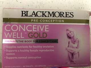 Blackmores conceive well