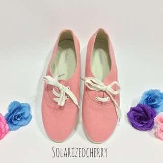 Vintage Pink Canvas Shoes
