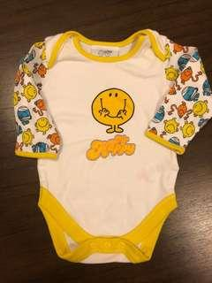 🚚 Mr Happy long sleeve onesie