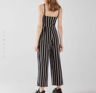 Bershka Long strappy jumpsuit