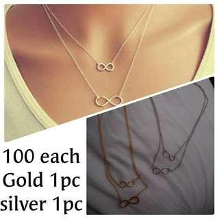 Infinity necklace & ring