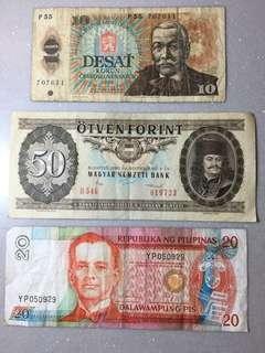 舊紙幣三張