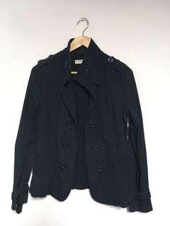 🚚 女款 雙排扣 短版軍裝薄風衣外套