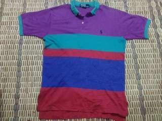 Vintage polo Ralph Lauren colour block style authentic usa