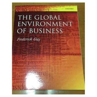 International Business University Textbook : The Global Environment Of Business