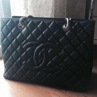 Chanel Grand Shopping Tote GST in Sliver Hardware SHW