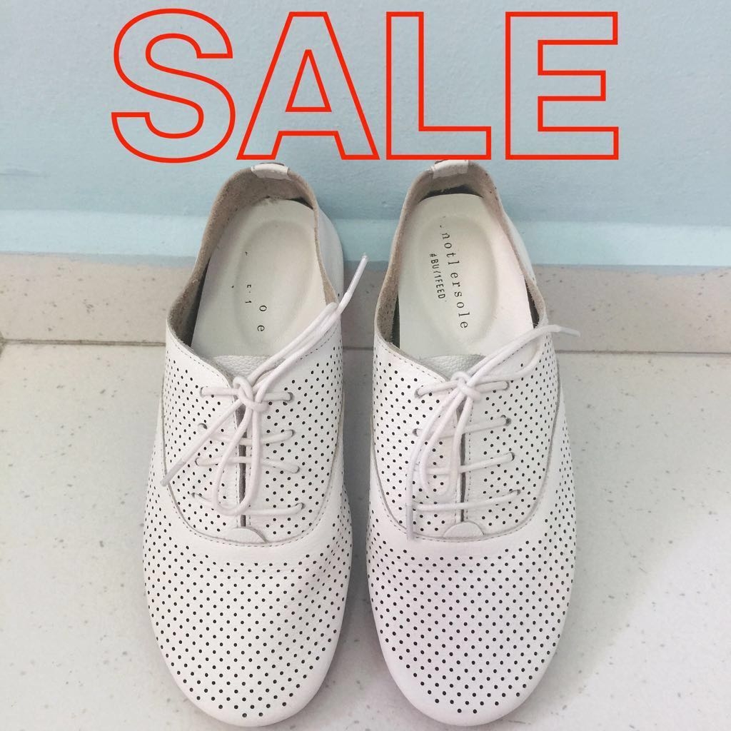 8040fad25b07 40% savings  Anothersole Holly II White Leather Sneakers