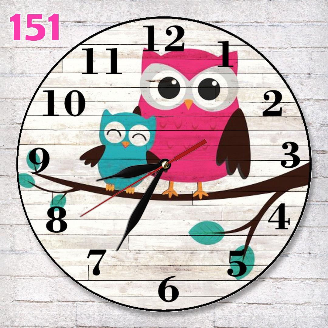 151 Jam Dinding Lucu Unik Motif Burung Hantu 54ed1bdeeb
