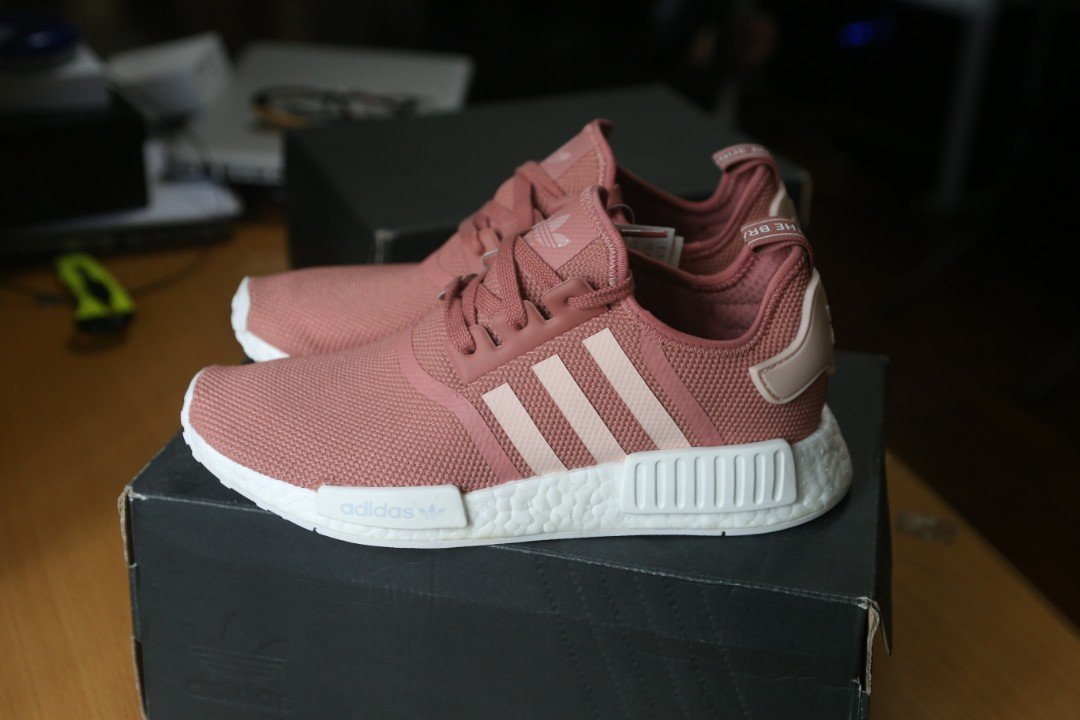 adc41699e665 adidas NMD R1 Salmon Raw Pink W Wmns Womens Women Wmn