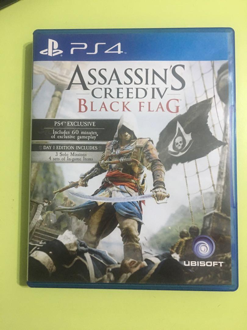 Assassin S Creed Iv Black Flag Ps4 Used Toys Games Video