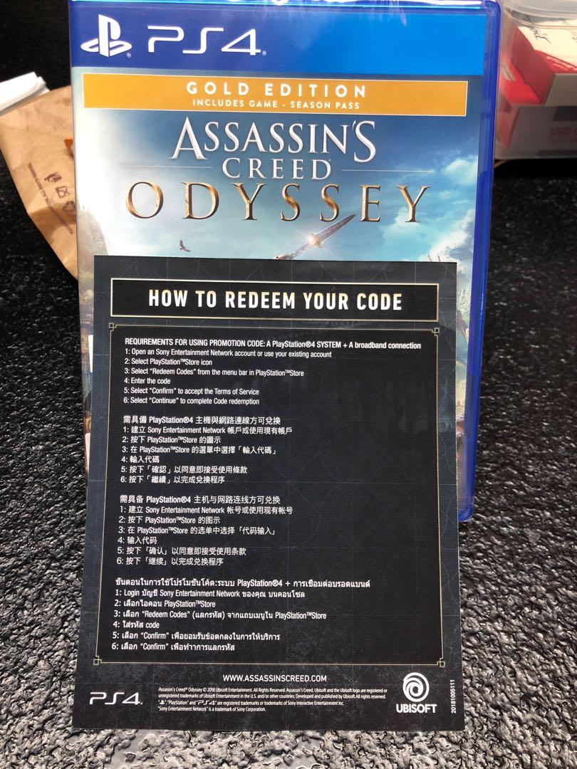 Assassins Creed Odyssey Gold Edition Us Ps4 Cd Key