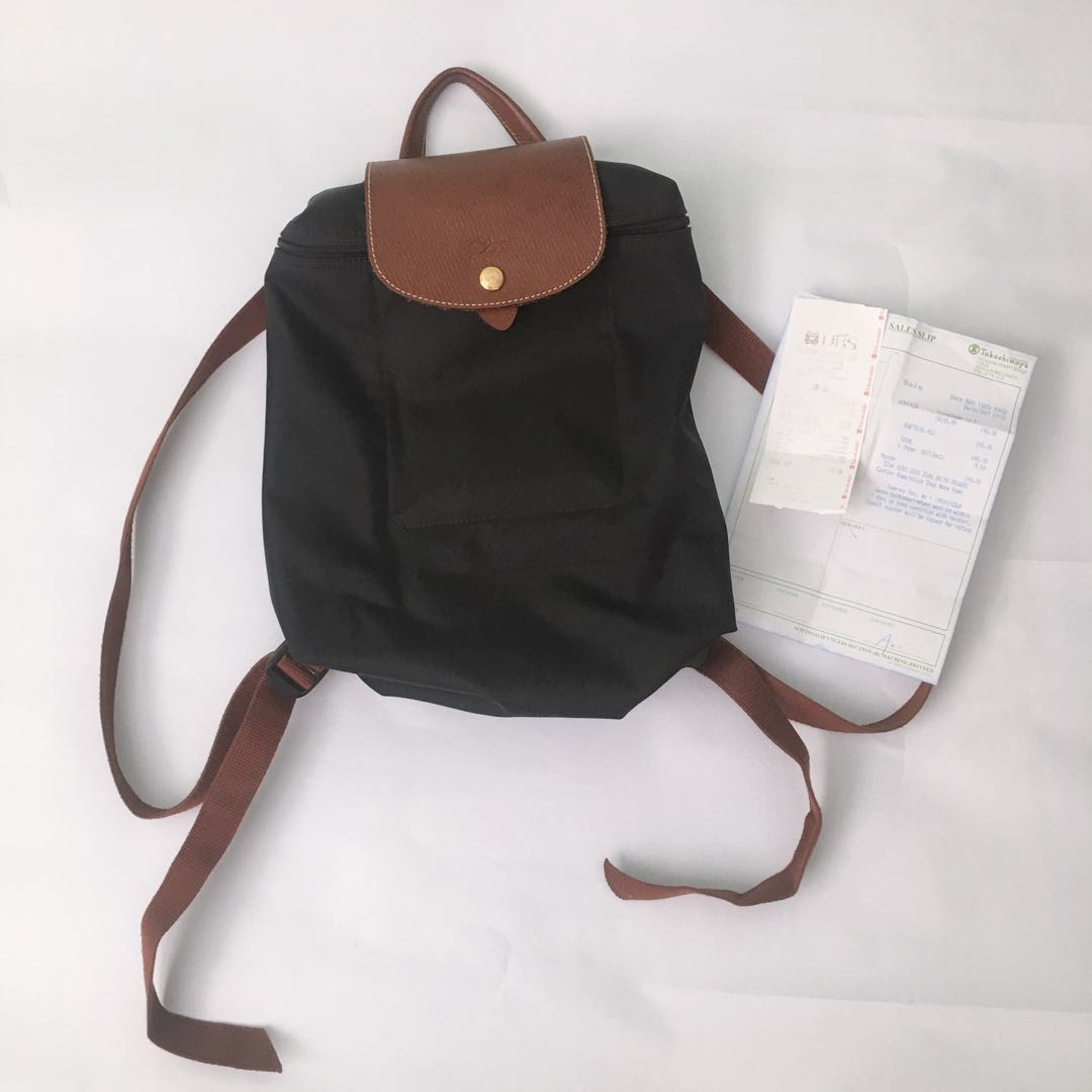 c6ecd9a0681f Authentic Longchamp Le Pliage Backpack in black