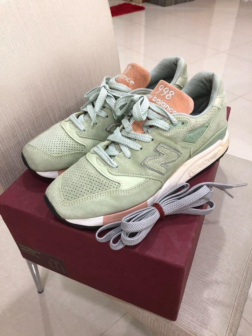 super popular 25ac0 735f1 Authentic New Balance 998 x Concepts Tannery Mint, Men's ...