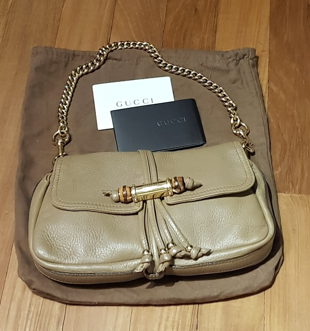 6ce9e45a7 Authentic Preloved Gucci Vintage Bamboo Small Shoulder Bag, Luxury ...