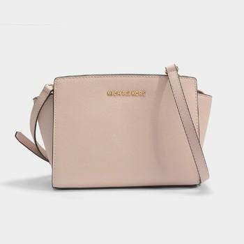 de5ddffa03e8 Sales - Soft Pink! Michael Kors Selma Messenger Medium, Luxury, Bags ...