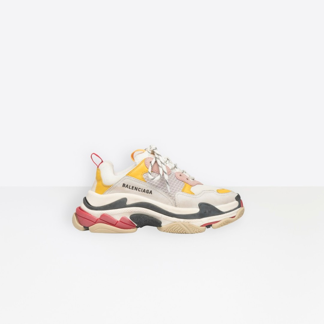 fe26c443cf51 Balenciaga Triple S Trainers in Yellow Pink