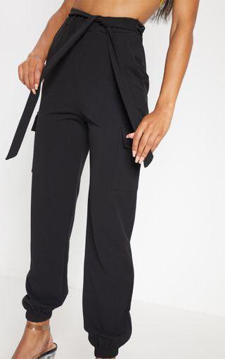 Black Tie Waist Pocket Detail Pants -Size S - $20 + postage ⭐️