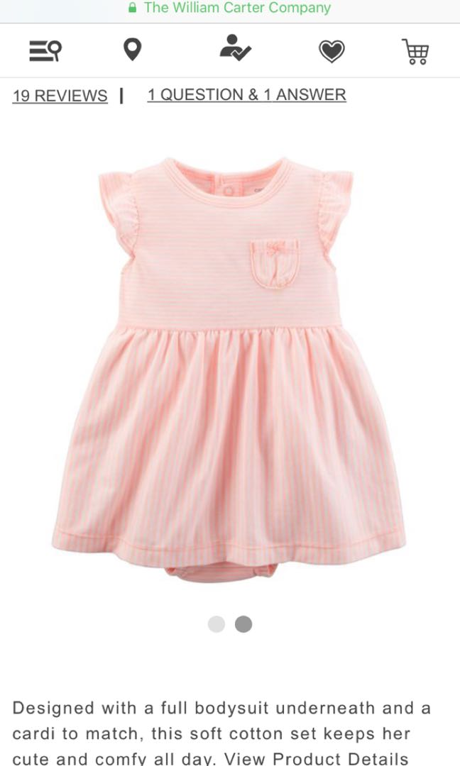 6cd22401b Brand new carters one piece dress with diaper cover, Babies & Kids ...