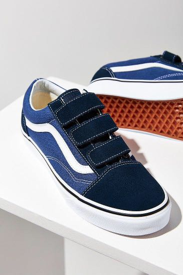 0e4fadbb6f7a73 Brand New  Vans Old Skool Velcro Navy