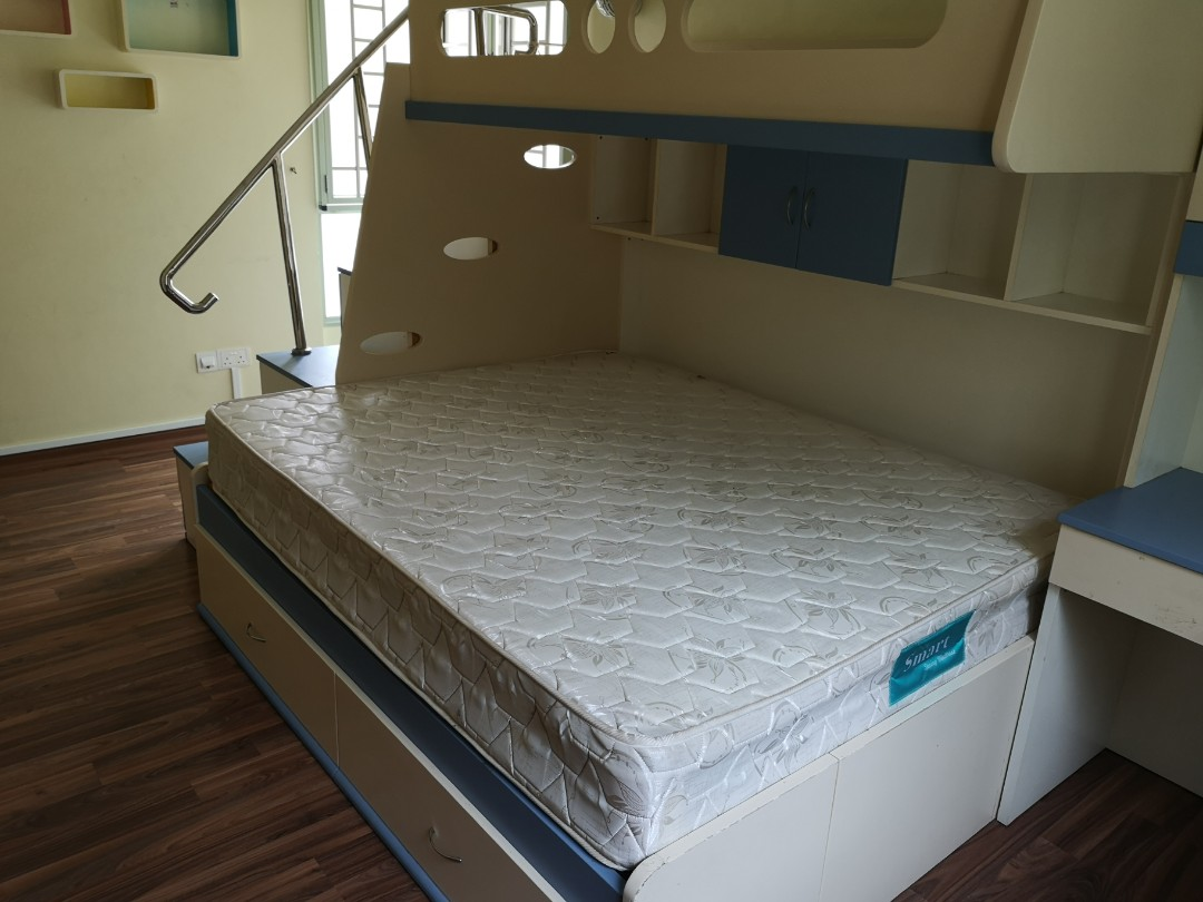 Bunk Bed Sleep 4 With Storage Furniture Beds Mattresses On