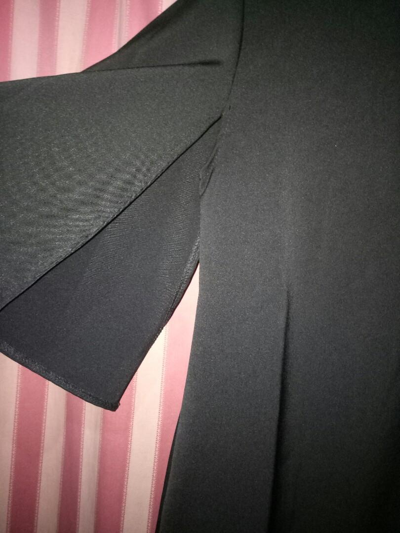 Cape black dress