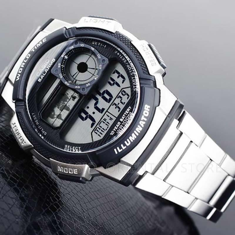 Casio Mens Digital AE-2100 Sports Waterproof Watch