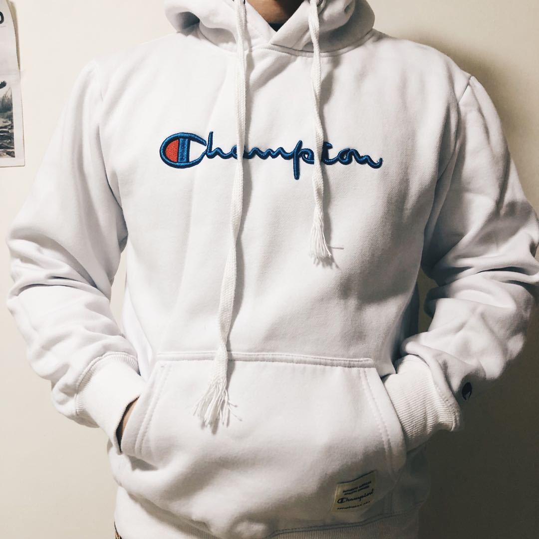 da7a130f Champion Hoodie, Men's Fashion, Clothes, Tops on Carousell