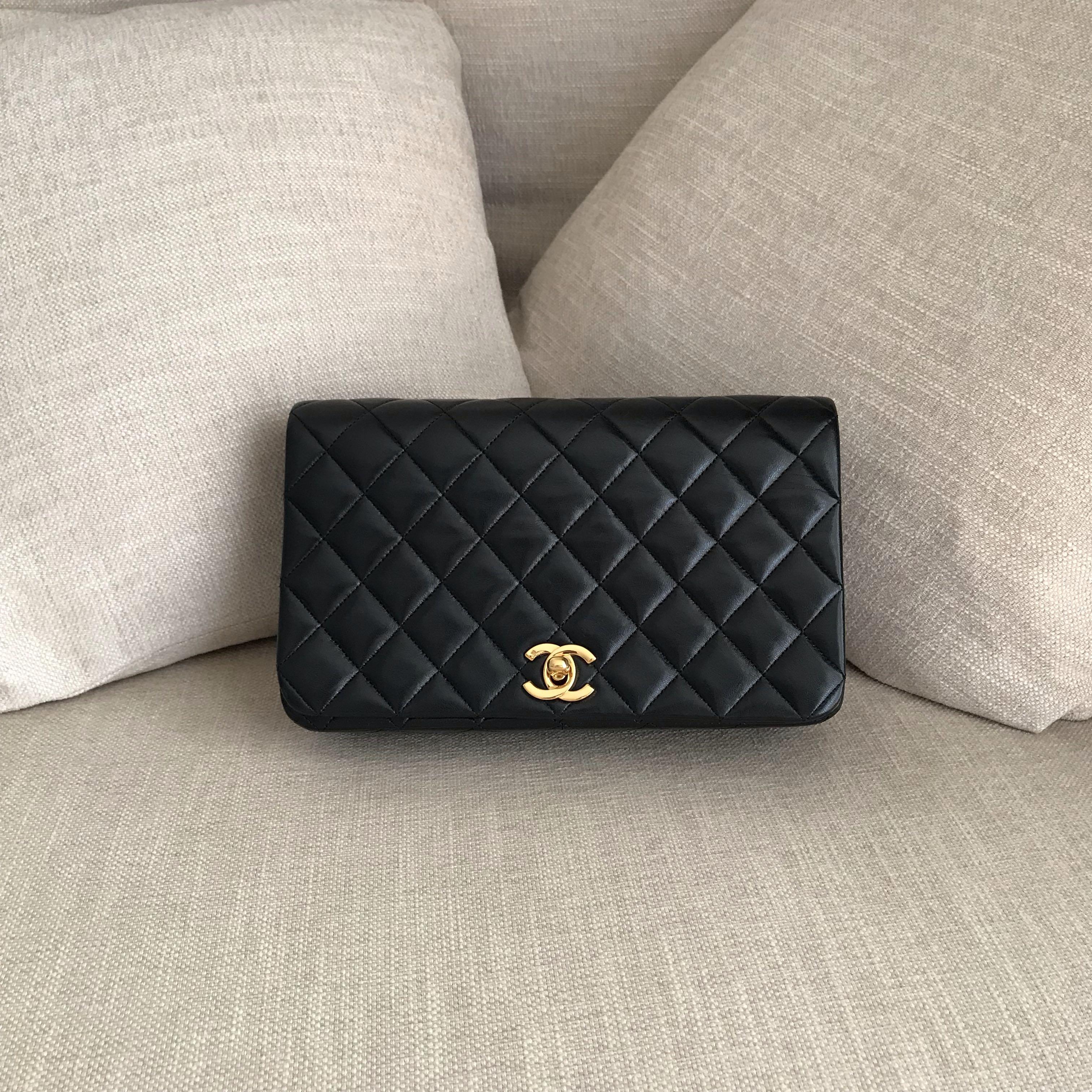 70ddb4c1ac70 CHANEL Lambskin Full Flap Chain Shoulder Bag, Women's Fashion, Bags ...