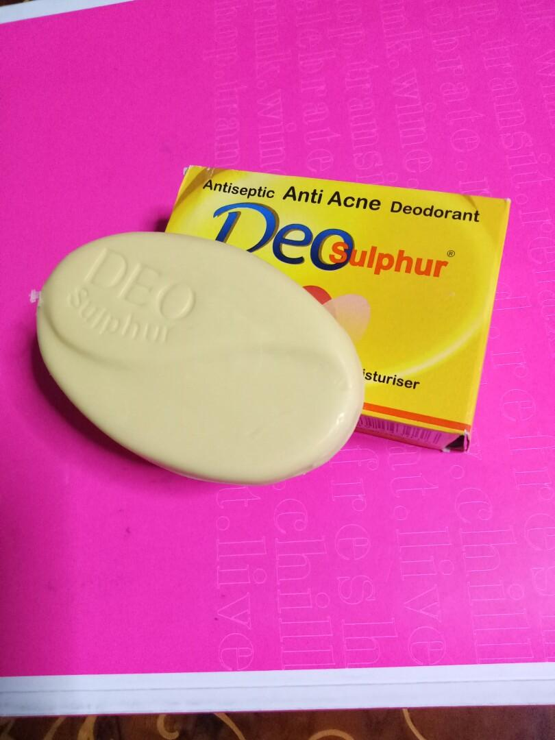 Deo Sulphur Soap, Health & Beauty, Bath & Body on Carousell