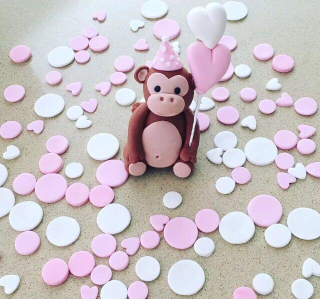 Edible Fondant Monkey or elephant with spots cake decorations