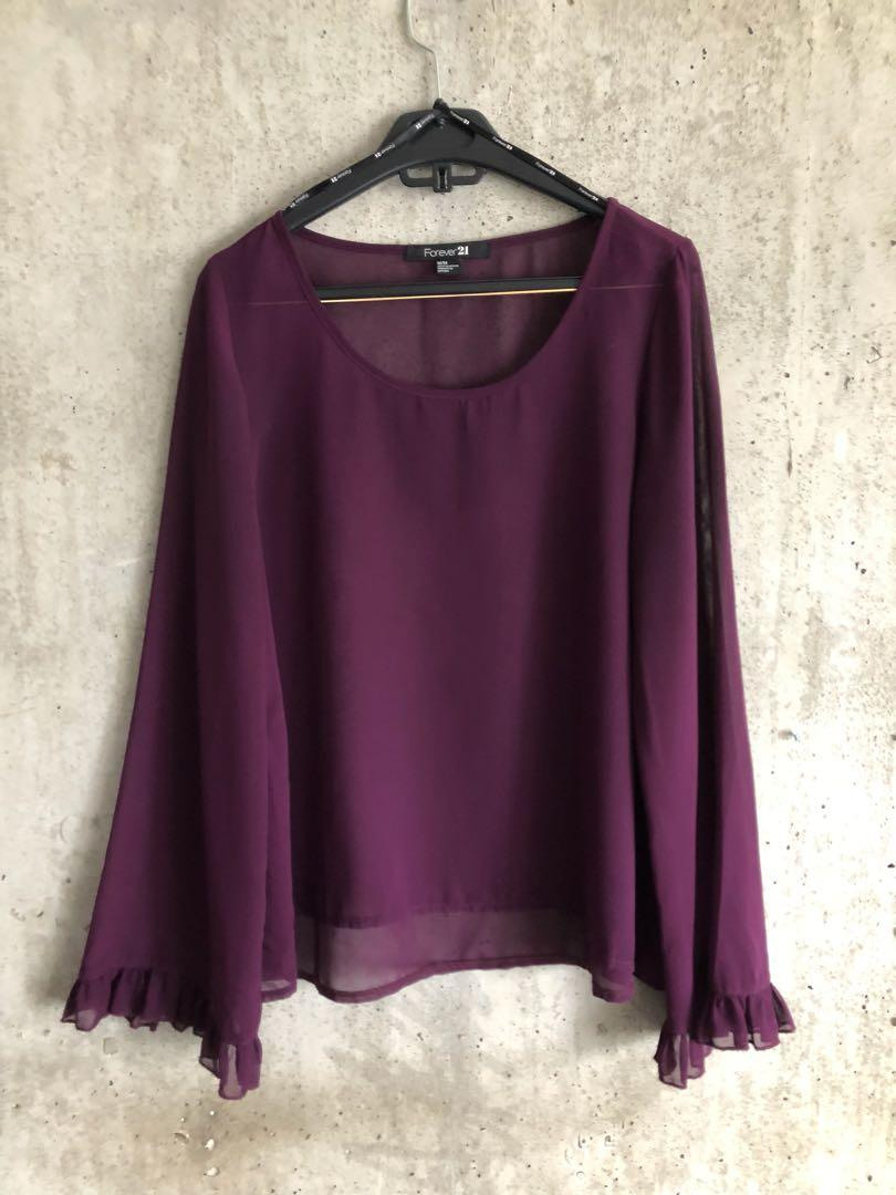 Forever 21 Bell Sleeve Top