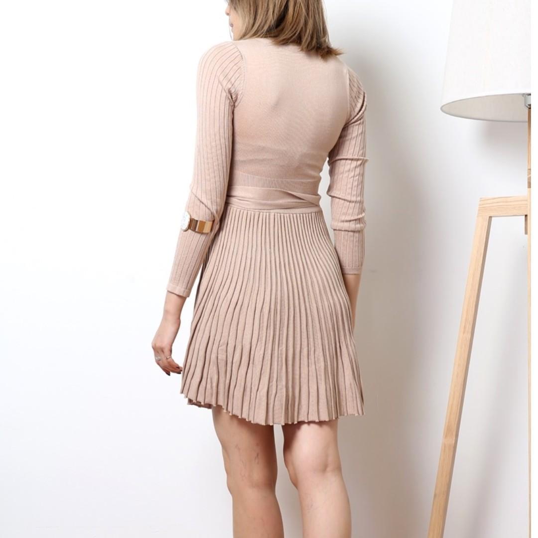 Shopkyla Glyn Knit Dress in Dark Brown (Casual/Dinner) (D13)