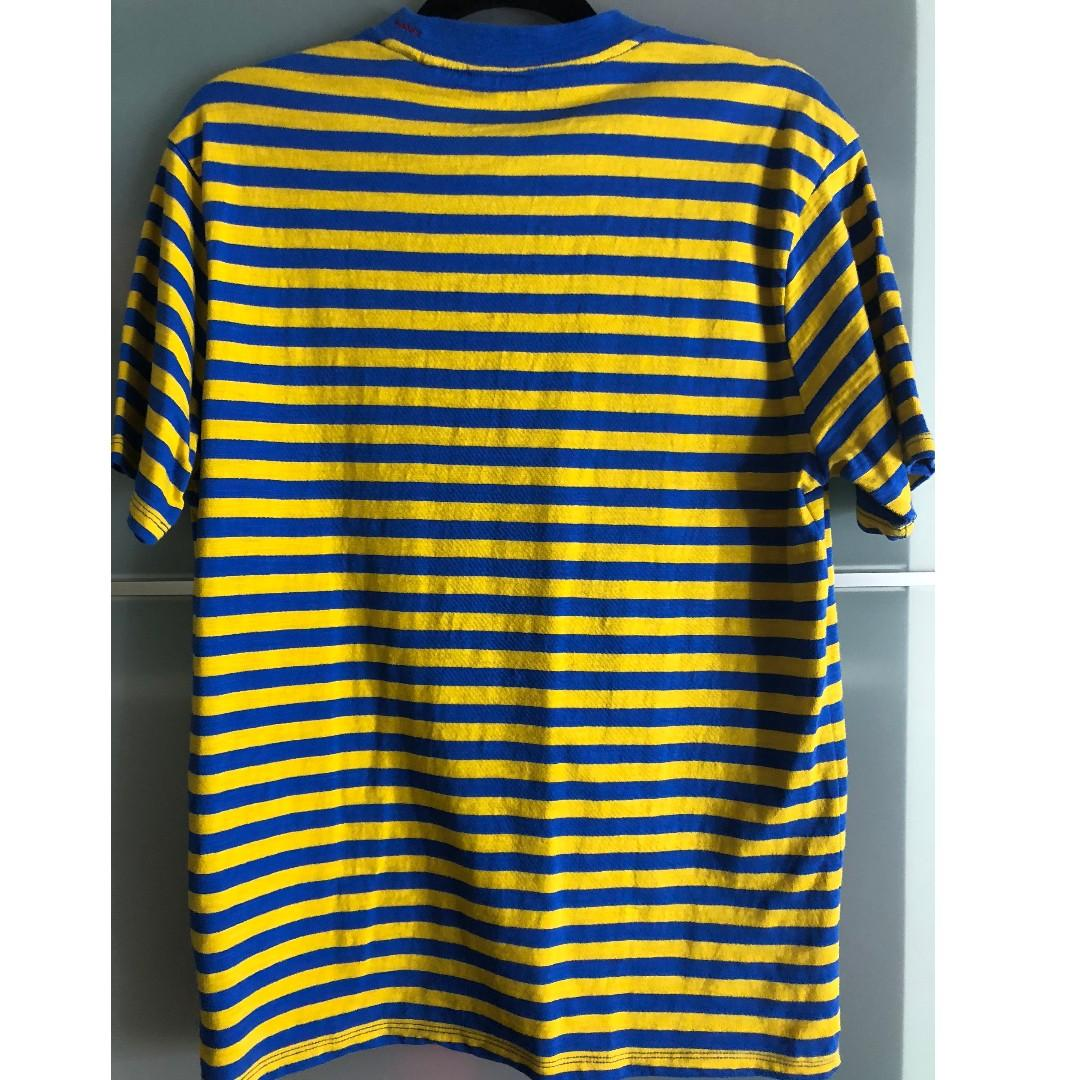 GUESS × ASAP ROCKY David Reactive Striped Tee Blue Yellow
