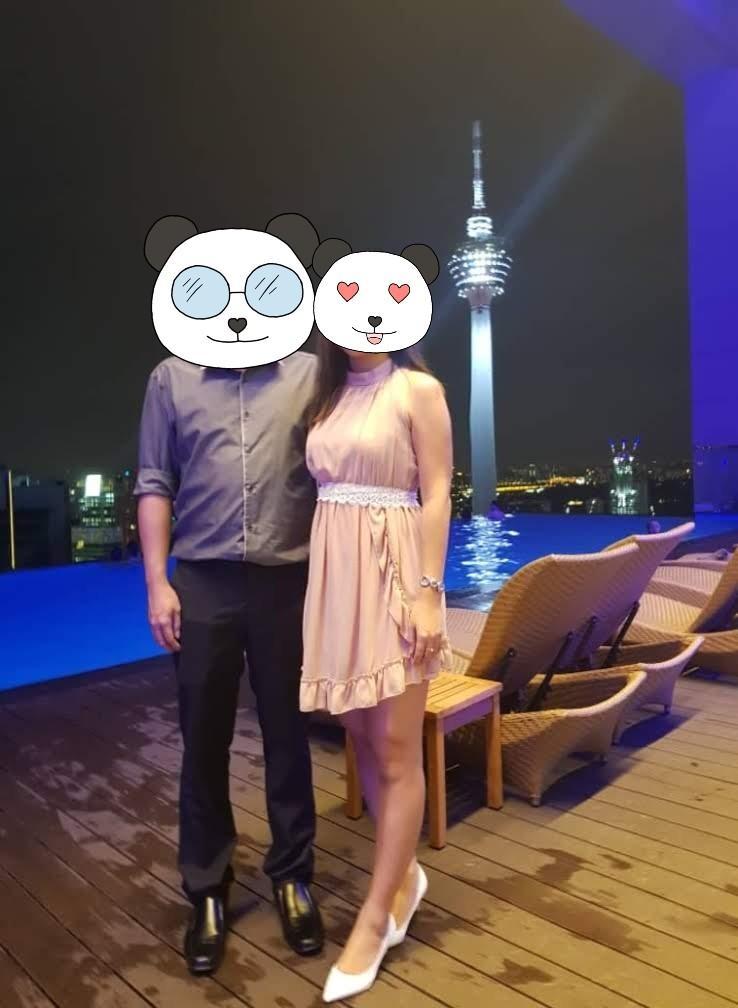 High neck brown dress