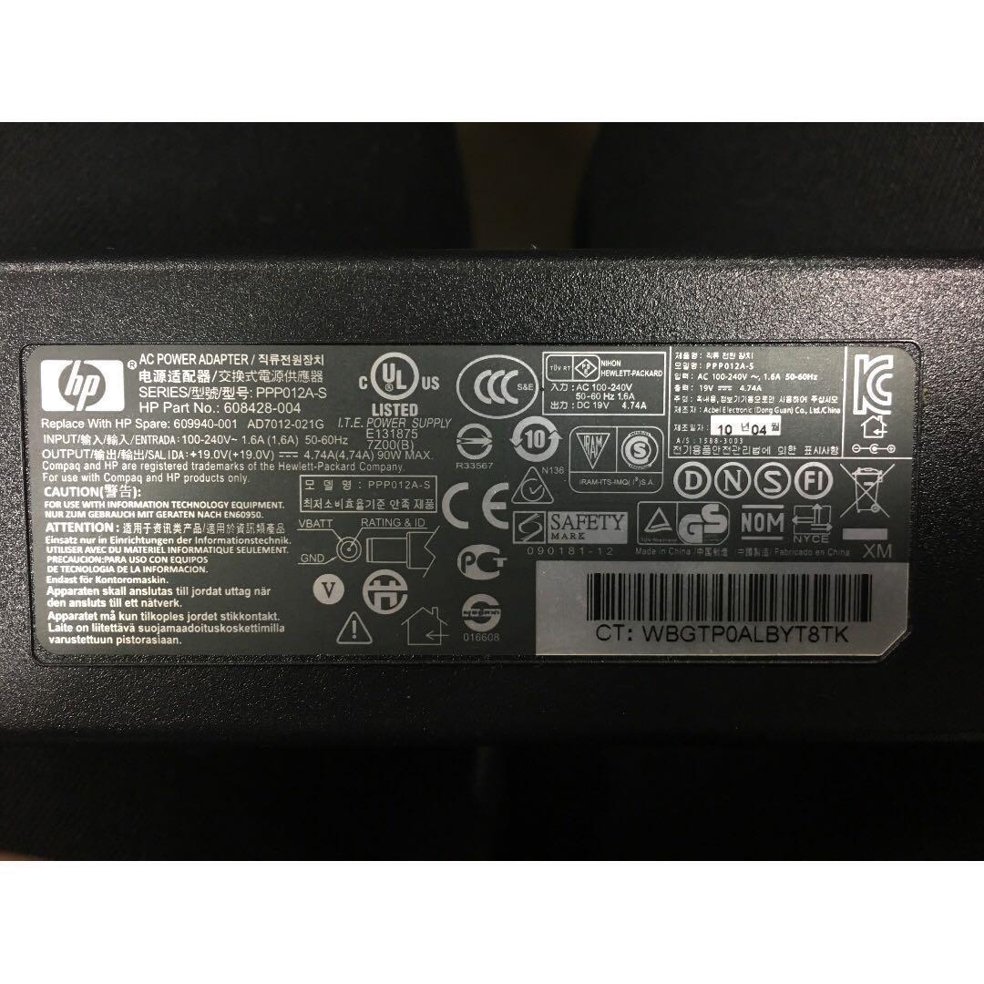 HP AC POWER ADAPTER 筆電變壓器 19V 90W