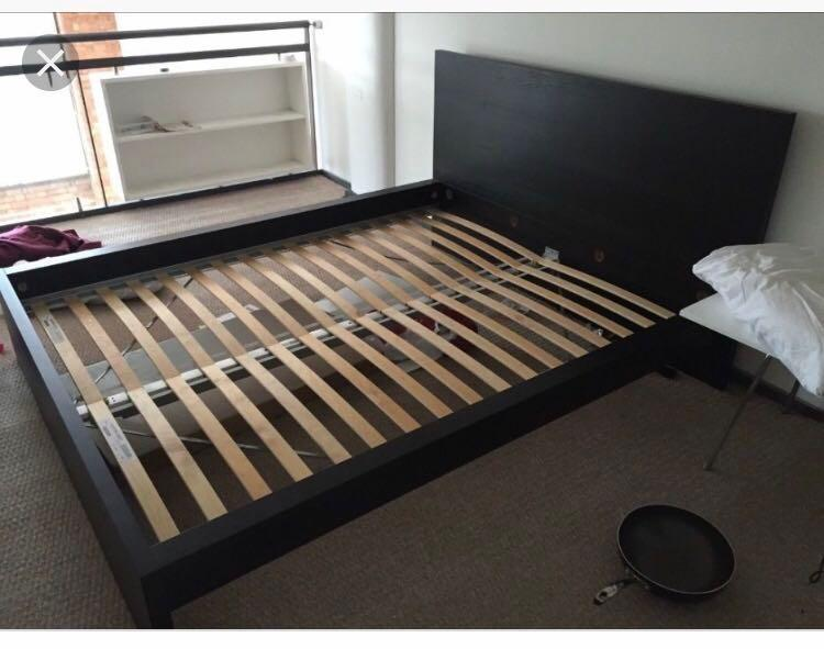quite nice 2802f 29c94 IKEA Malm Bed frame, Furniture, Beds & Mattresses on Carousell