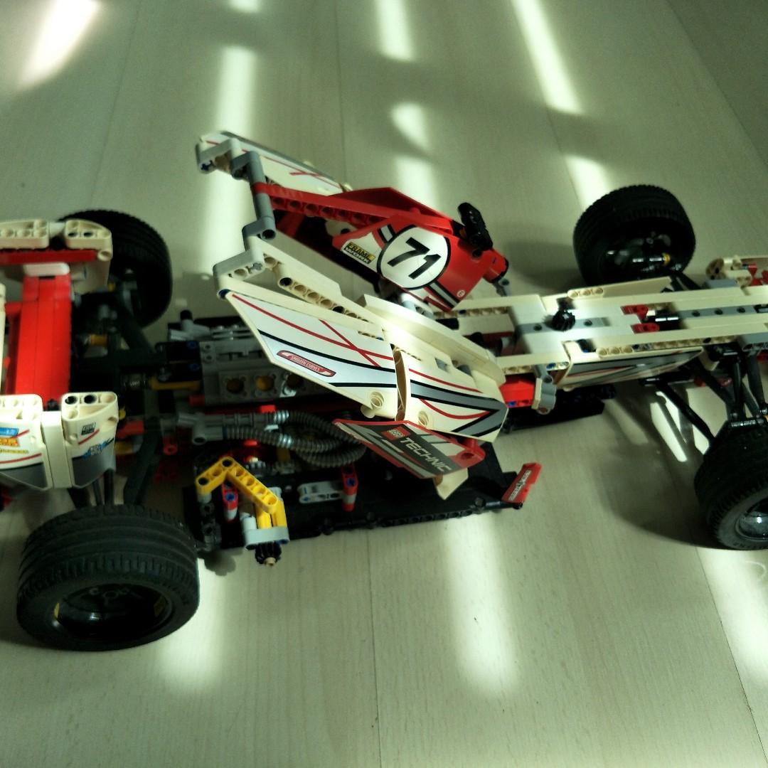 Lego Technic F1 Sports Car Toys Games Bricks Figurines On
