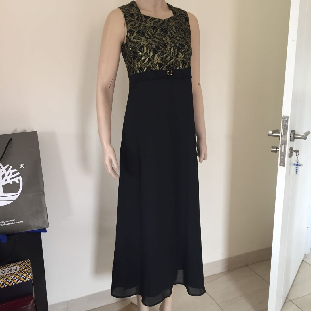 Longdress Hitam Simple Untuk Pesta Women S Fashion Women S Clothes