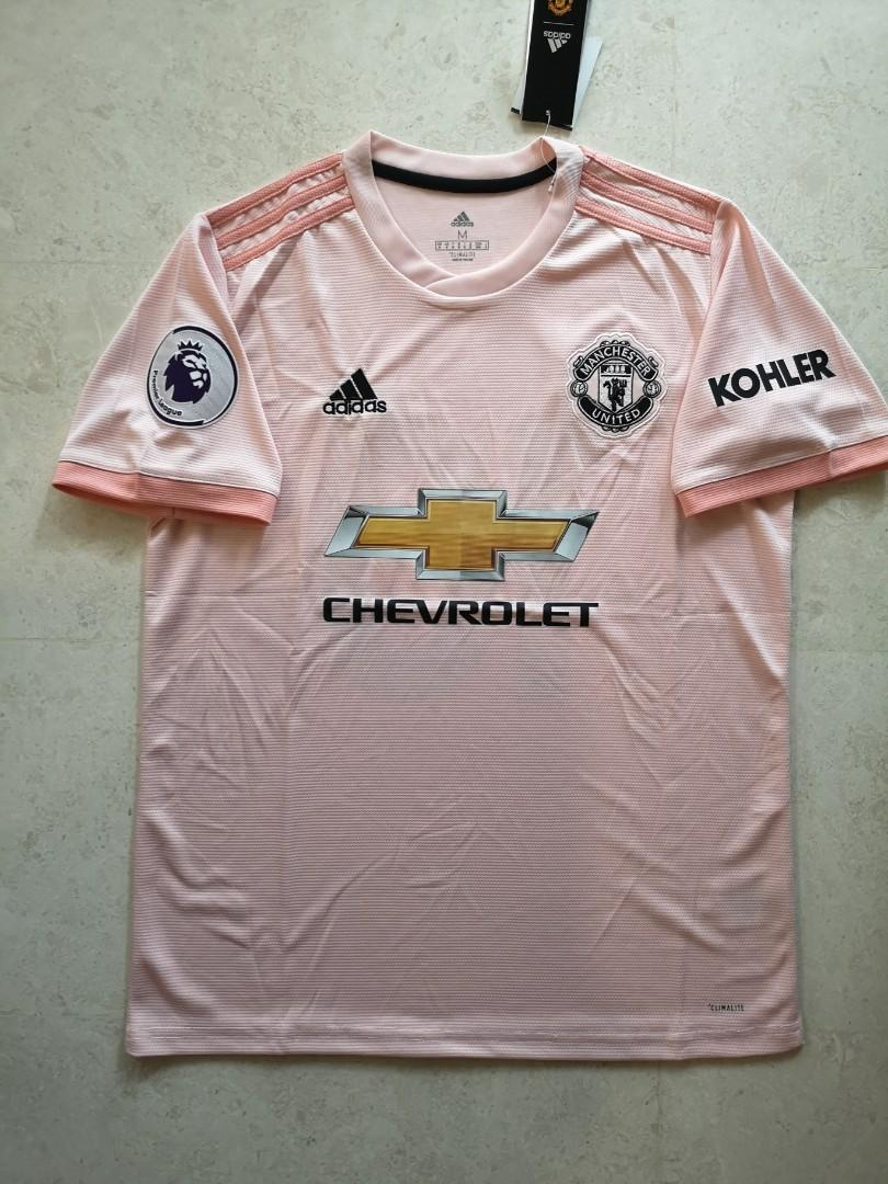Man Utd Away Kit Instock Sports Sports Apparel On Carousell
