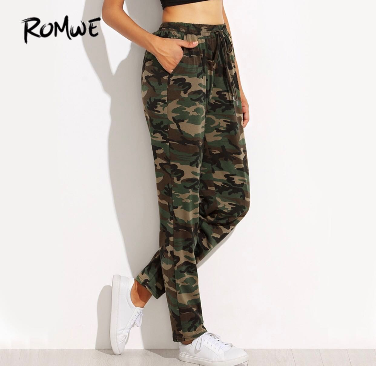 bb564c814ce5ac ✨[NEW] FREE NM✨ Womens Green Camo Army Sweatpants / Joggers ✨, Women's  Fashion, Clothes, Pants, Jeans & Shorts on Carousell