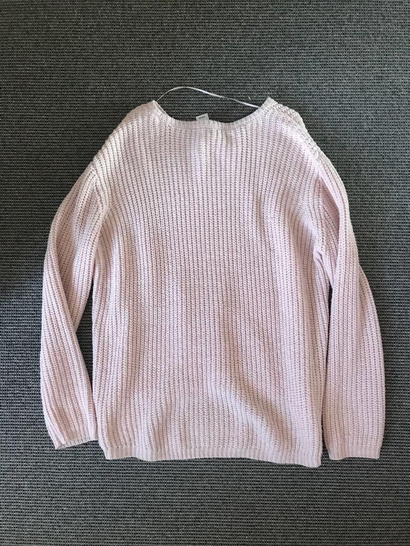 NOW- BLUSH PINK KNITTED TOP