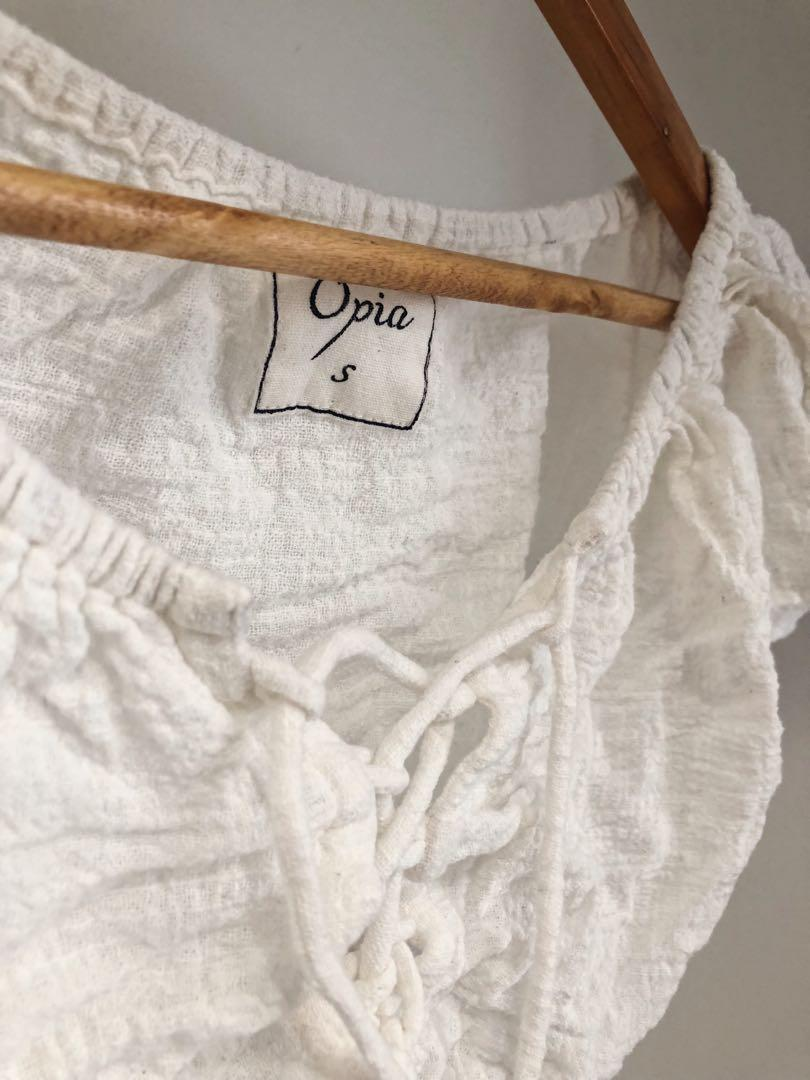 Opia The Label white crop top
