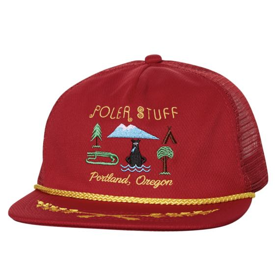 c57bc82c949d1 POLER STUFF Portland Oregon Store SnapBack in Red