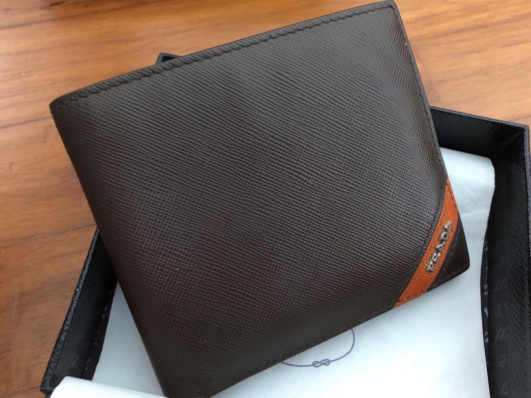 b90e1388264b Prada Saffiano leather billfold wallet, Luxury, Bags & Wallets ...