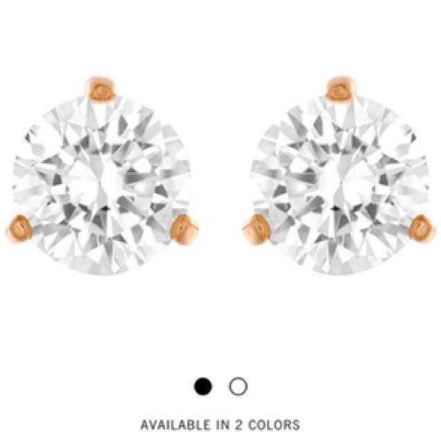 2304d2ebb PRICE REDUCED] Swarovski SOLITAIRE PIERCED EARRINGS, WHITE, ROSE ...