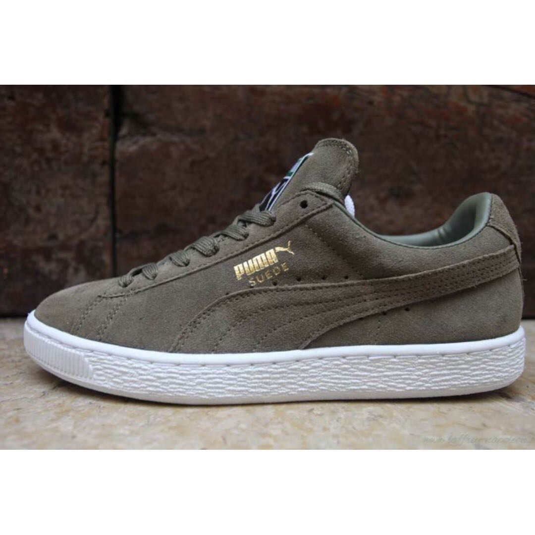 Puma Suede Sneakers (Olive Green) d1539eaf5