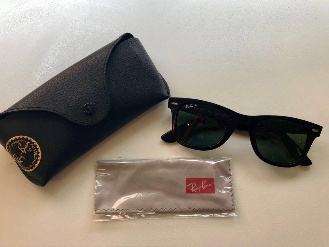 Ray Ban Wayfarer polarised sunglasses