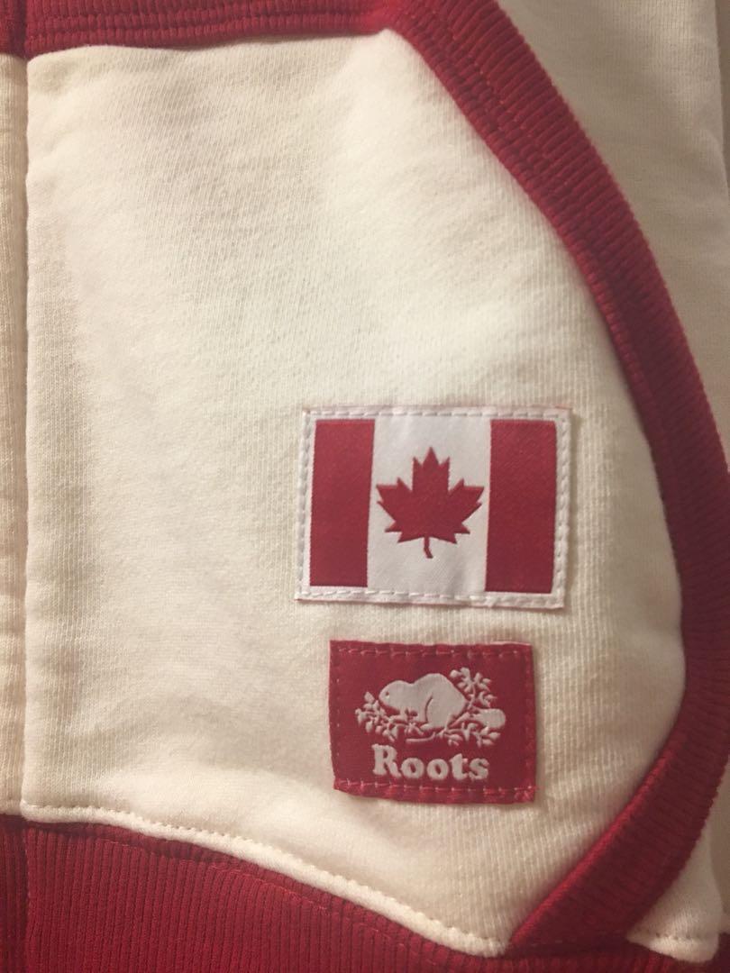 Roots Canada 運動休閒連帽外套(米白款)
