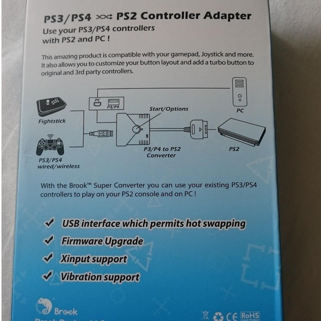 SG Seller Brook Design - P2-BL Game Controller Super Converters PS3/PS4 to PS2